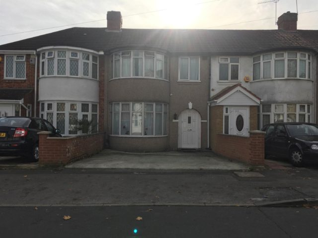Image of 3 bedroom Terraced house for sale in Berwick Avenue Hayes UB4 at Hayes Middlesex Southall, UB4 0NH