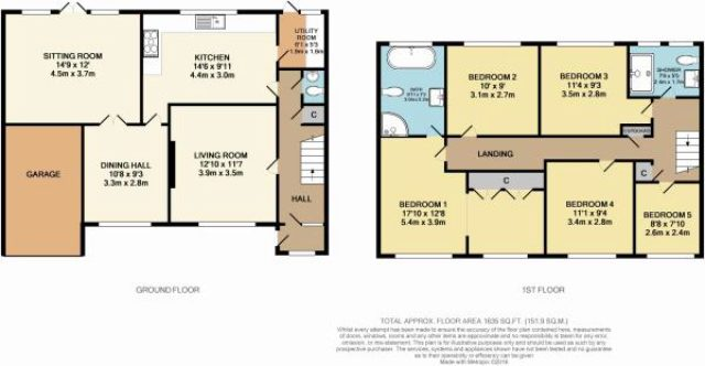 5 bedroom semi detached house for sale in forge croft for 5 bedroom house plans uk