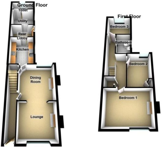uk terraced house floor plans